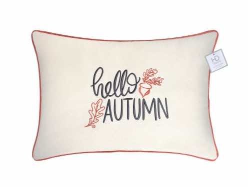 Holiday Home Hello Autumn Decorative Pillow Perspective: front