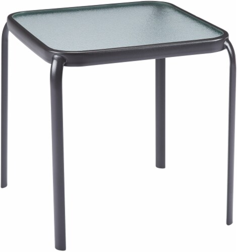 HD Designs Outdoors Orchards Square Side Table - Black Perspective: front