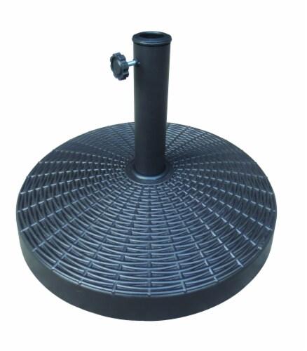 HD Designs Outdoors Umbrella Base - Black Perspective: front