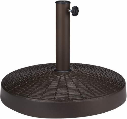 HD Designs Outdoors Umbrella Base - Brown Perspective: front