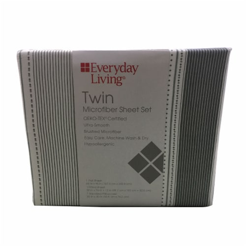 Everyday Living® Tulum Cababa Twin Microfiber Sheet Set Perspective: front