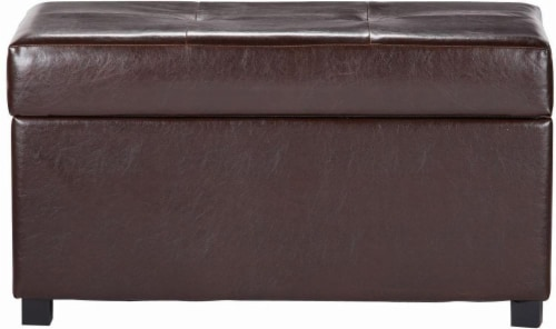 HD Designs Large Storage Bench Ottoman - Brown Perspective: front