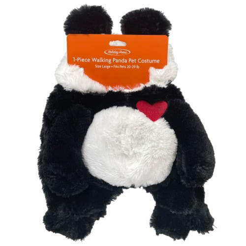 Holiday Home® Large Pet Panda Costume Perspective: front