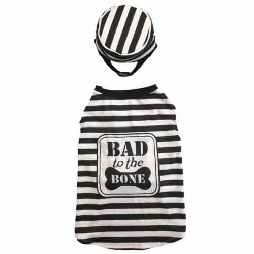 Holiday Home Bad to the Bone Small Pet Costume Perspective: front