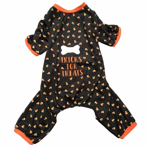 Holiday Home Bone Tricks for Treats Small Pet Pajamas Perspective: front