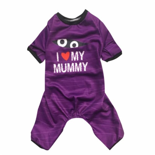 Holiday Home Mummy Small Pet Pajamas Perspective: front