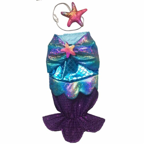 Holiday Home Mermaid Small Pet Costume Perspective: front