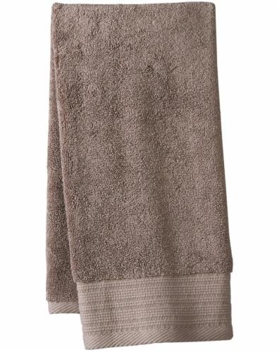 Modavari Home Fashions Pima Hand Towel - Driftwood Perspective: front