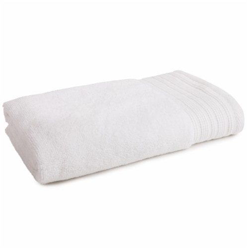 Modavari Home Fashions Pima Hand Towel - Bright White Perspective: front