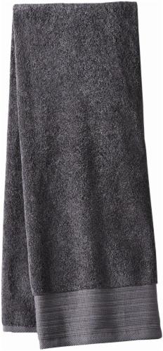 Modavari Home Fashions Pima Pinstripe Bath Towel - Gray Perspective: front
