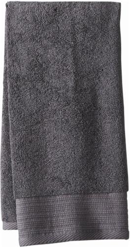 Modavari Home Fashions Pima Pinstripe Hand Towel - Grey Perspective: front