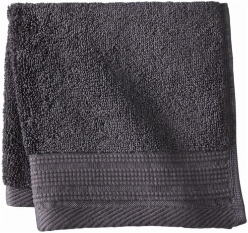 Modavari Home Fashions Pima Pinstripe Washcloth - Gray Perspective: front