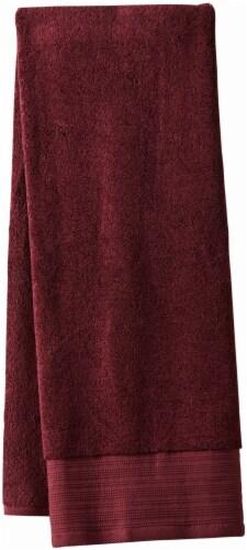 Modavari Home Fashions Pima Pinstripe Bath Towel - Fig Perspective: front