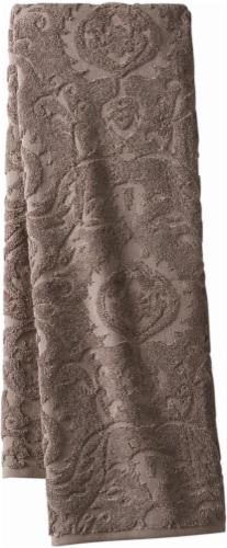 Modavari Home Fashions Jacquard Bath Towel - Driftwood Perspective: front