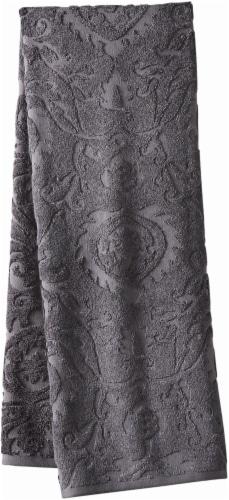 Modavari Home Fashions Jacquard Bath Towel - Gray Perspective: front
