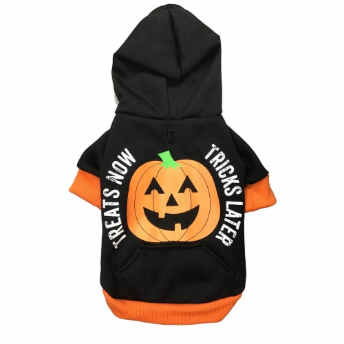 Holiday Home Treats Now Hoodie Medium Pet Costume Perspective: front