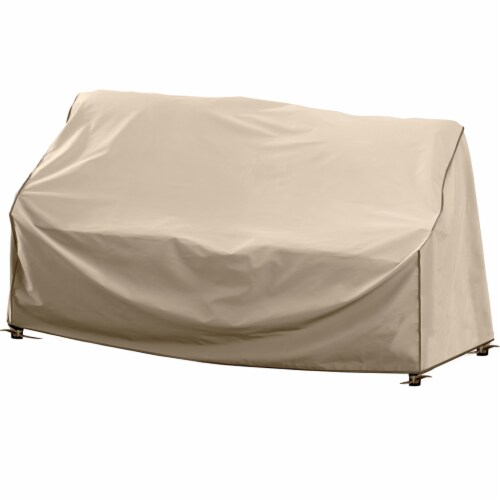 HD Designs Outdoors Loveseat Cover - Taupe Perspective: front