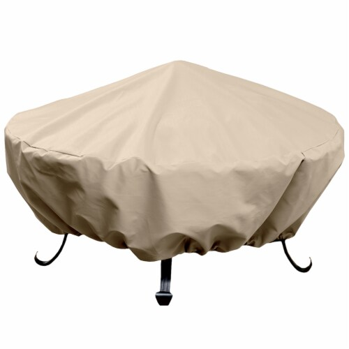 HD Designs Outdoors® Firebowl Cover - Taupe Perspective: front