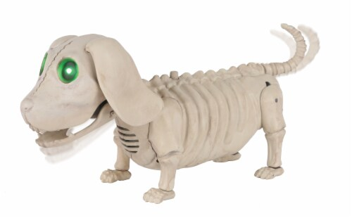 Holiday Home Animated Mini Dog Skeleton Perspective: front