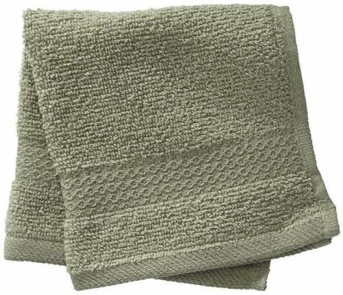 Performance Quick Dry Washcloth - Sage Green Perspective: front