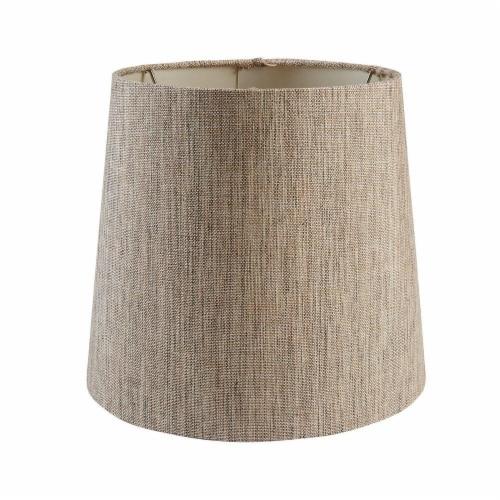 HD Designs Drum Lamp Shade - Dark Linen Perspective: front