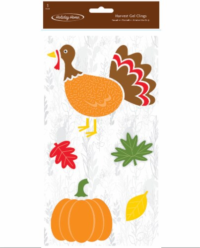 Holiday Home® Harvest Turkey Gel Cling Perspective: front