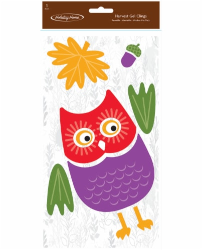 Holiday Home® Harvest Owl Gel Cling Perspective: front