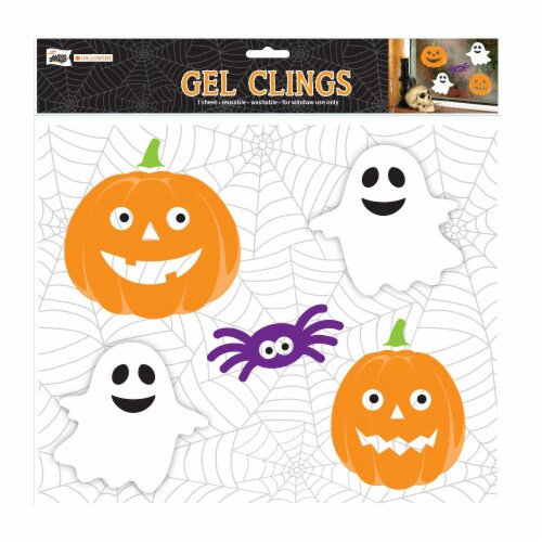 Holiday Home® Halloween Pumpkin Gel Cling Perspective: front