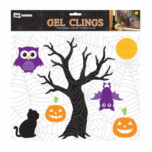Holiday Home® Halloween Tree Gel Cling Perspective: front