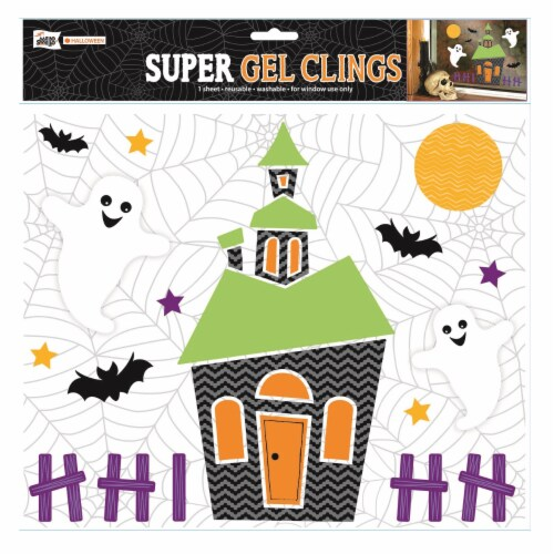 Holiday Home® Halloween House Gel Cling Perspective: front