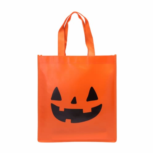 Holiday Home Pumpkin Treat Bag Perspective: front