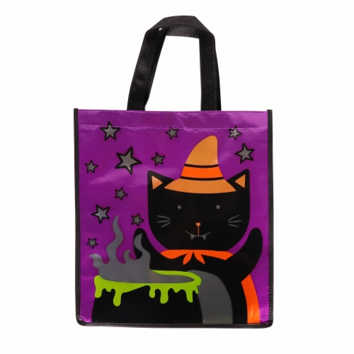 Holiday Home Witch Cat Treat Bag Perspective: front
