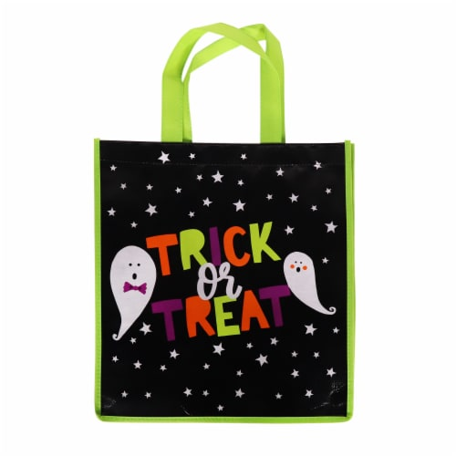 Holiday Home Trick or Treat Ghosts Treat Bag Perspective: front