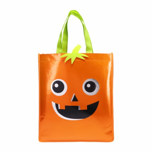 Holiday Home® Pumpkin Treat Bag Perspective: front