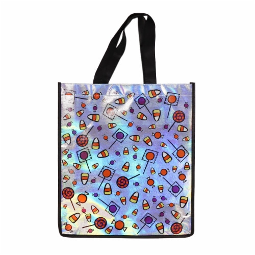 Holiday Home Iridescent Candy Print Treat Bag Perspective: front