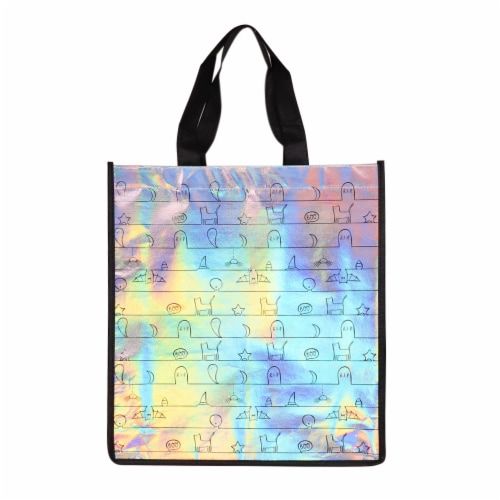 Holiday Home Iridescent Graveyard Print Treat Bag Perspective: front