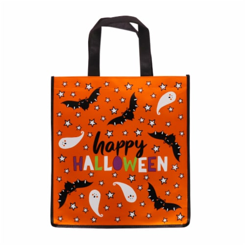 Holiday Home® Happy Halloween Foil Treat Bag Perspective: front