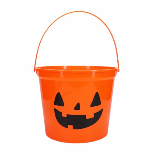 Holiday Home® Jumbo Treat Bucket - Orange Perspective: front