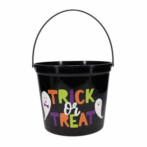 Holiday Home Jumbo Trick or Treat Bucket Perspective: front
