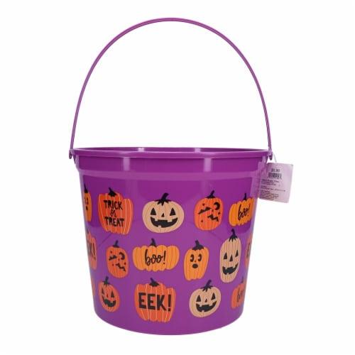 Holiday Home® Scatter Pumpkin Jumbo Bucket Perspective: front