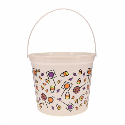 Holiday Home Jumbo Candy Print Treat Bucket Perspective: front