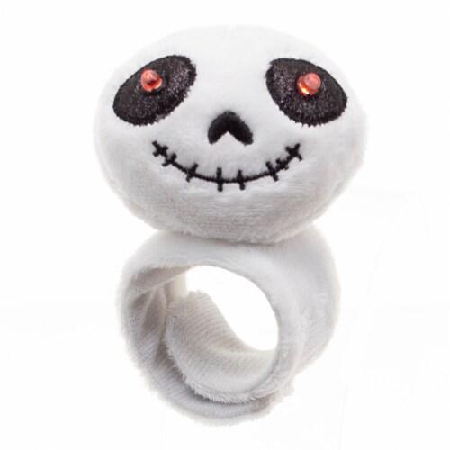 Holiday Home Halloween Skeleton Snap Bracelet Perspective: front