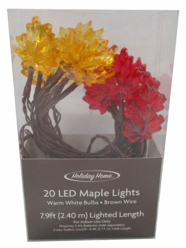Holiday Home® LED Harvest Maple Lights Perspective: front