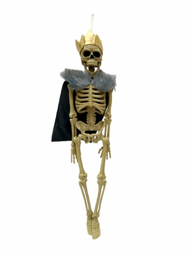 Holiday Home Hanging King Skeleton Decoration Perspective: front