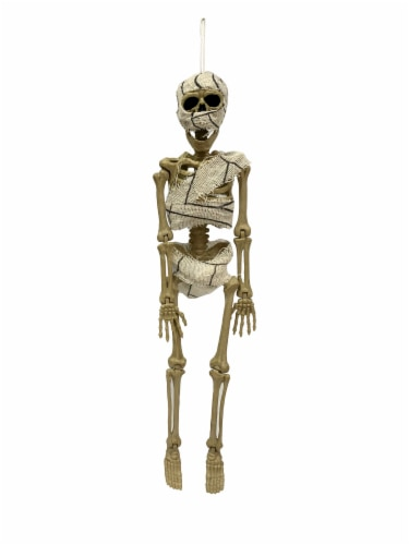 Holiday Home Hanging Mummy Skeleton Decoration Perspective: front
