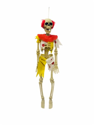 Holiday Home Hanging Clown Skeleton Decoration Perspective: front