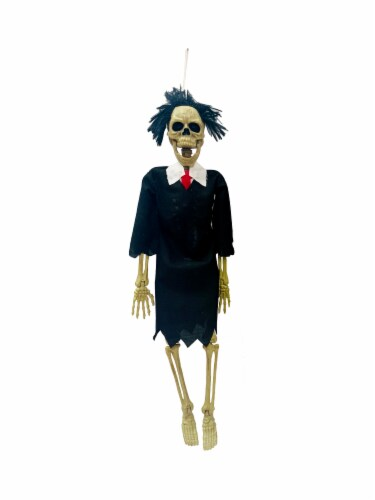 Holiday Home Hanging Judge Skeleton Decoration Perspective: front