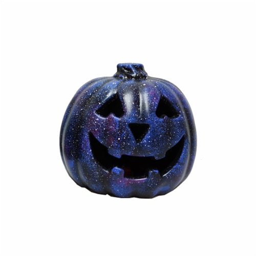 Holiday Home® Light Up Galaxy Pumpkin Decoration Perspective: front