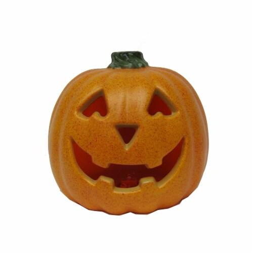 Holiday Home Light Up Speckled Jack-O-Lantern Decoration - Orange Perspective: front