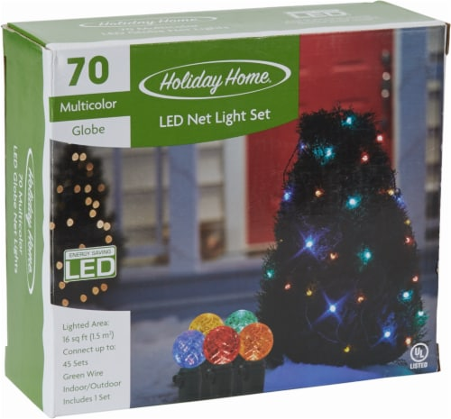 Holiday Home® 70 Multi-Colored LED Net Lights Perspective: front